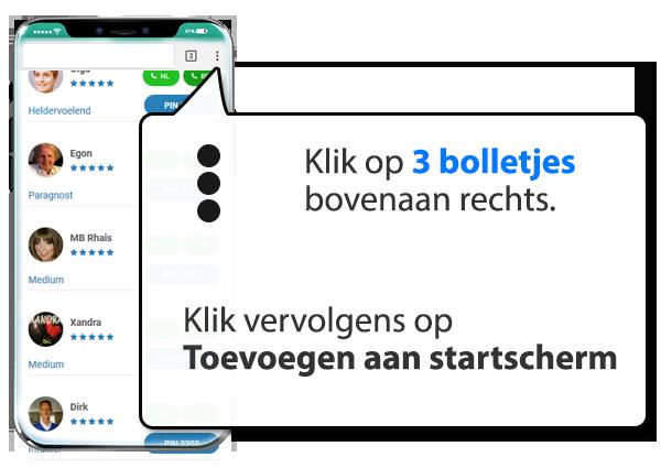 android: Onlinemedium.nl instellen als app op Mobiel