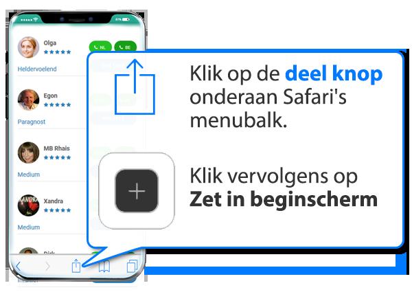 iphone en ipad: Onlinemedium.nl als app instellen op Mobiel